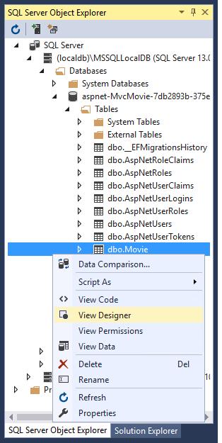Working with SQL Server LocalDB — ASP NET documentation