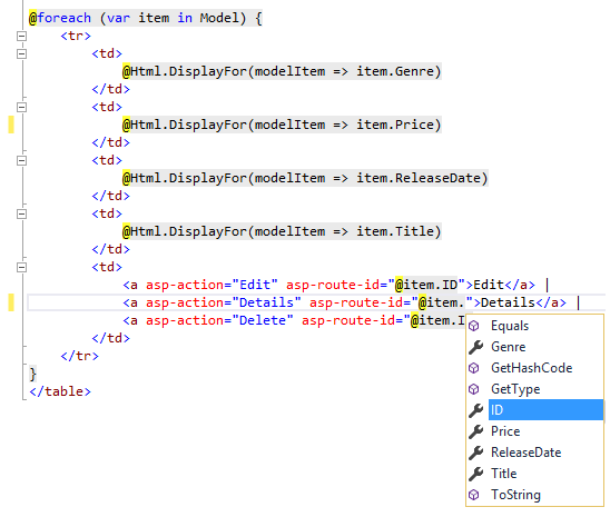 Adding a model — ASP NET documentation