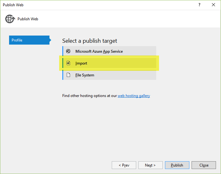 Publishing to IIS with Web Deploy using Visual Studio — ASP